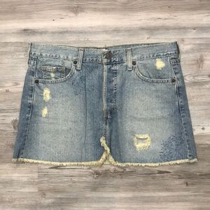 Levi's Jeans Denim Distressed Mini Skirt